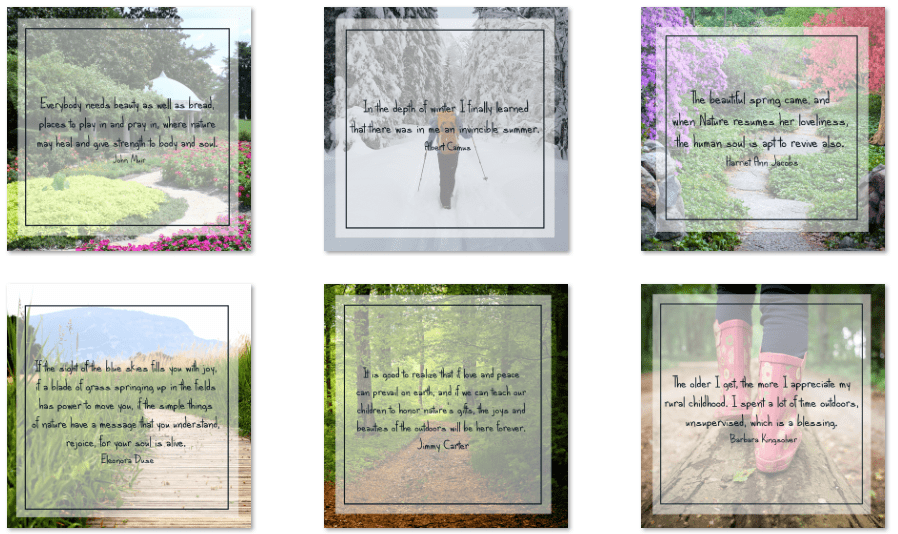 inspirational graphics outdoors 50 pack